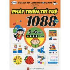 Bộ sách rèn luyện trí thông minh - 1088 câu đố phát triển trí tuệ 5 - 6 tuổi (Bộ 4 tập)