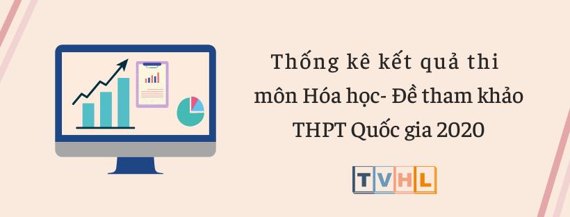 Thống kê kết quả thi thử THPT Quốc gia 2020 môn Hóa học - Đề tham khảo (Bộ GG&ĐT)