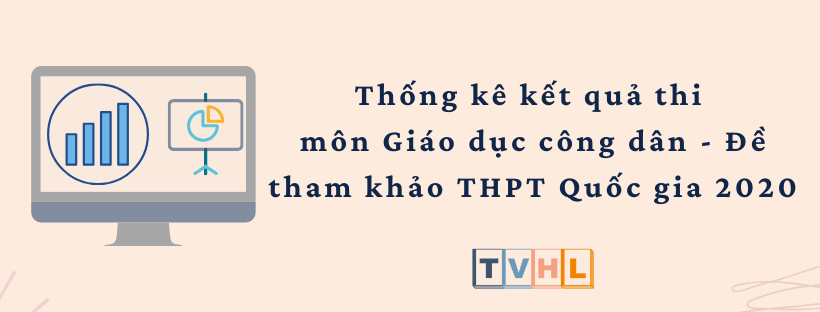 Thống kê kết quả thi thử THPT Quốc gia 2020 môn Giáo dục công dân - Đề tham khảo (Bộ GG&ĐT)