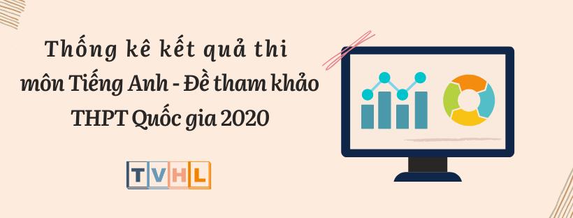 Thống kê kết quả thi thử THPT Quốc gia 2020 môn Tiếng Anh - Đề tham khảo (Bộ GG&ĐT)